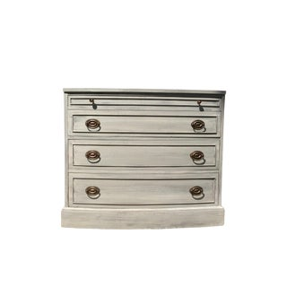 Distressed Grey Bowfront Federal Style Chest