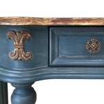 Image of Custom Finished Demi-Lune Console Table
