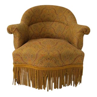 Vintage Beech Wood Slipper Chair