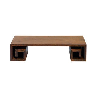 Rectangular Rosewood Square Scroll Leg Table Top Decor Display Stand