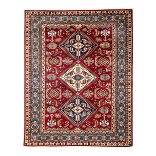 """New Traditional Hand Knotted Area Rug - 5'1"""" x 6'4"""""""