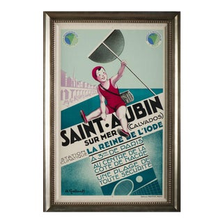 Saint Aubin Vintage Travel Poster