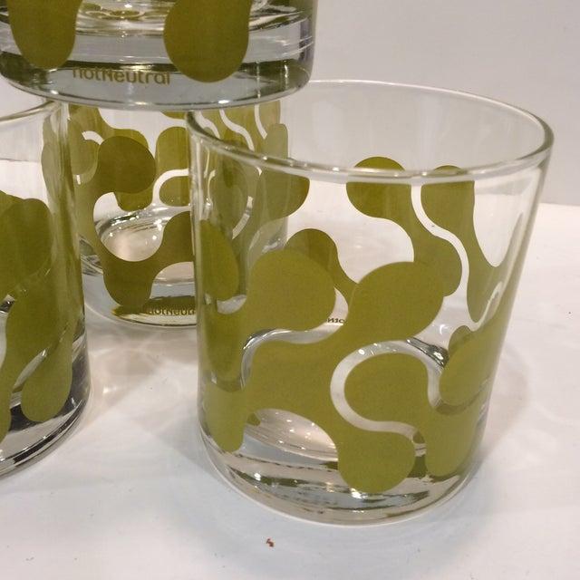 Op Art Avocado Green Lo-Ball Glasses - Set of 4 - Image 10 of 11