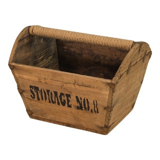Vintage Sarreid LTD Wooden Basket