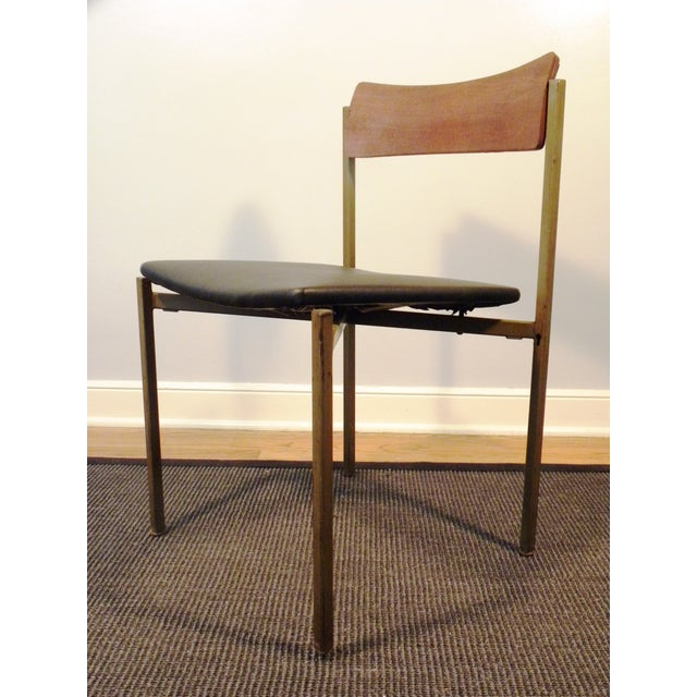 Mid-Century Floating Seat Metal Chairs - A Pair - Image 7 of 8