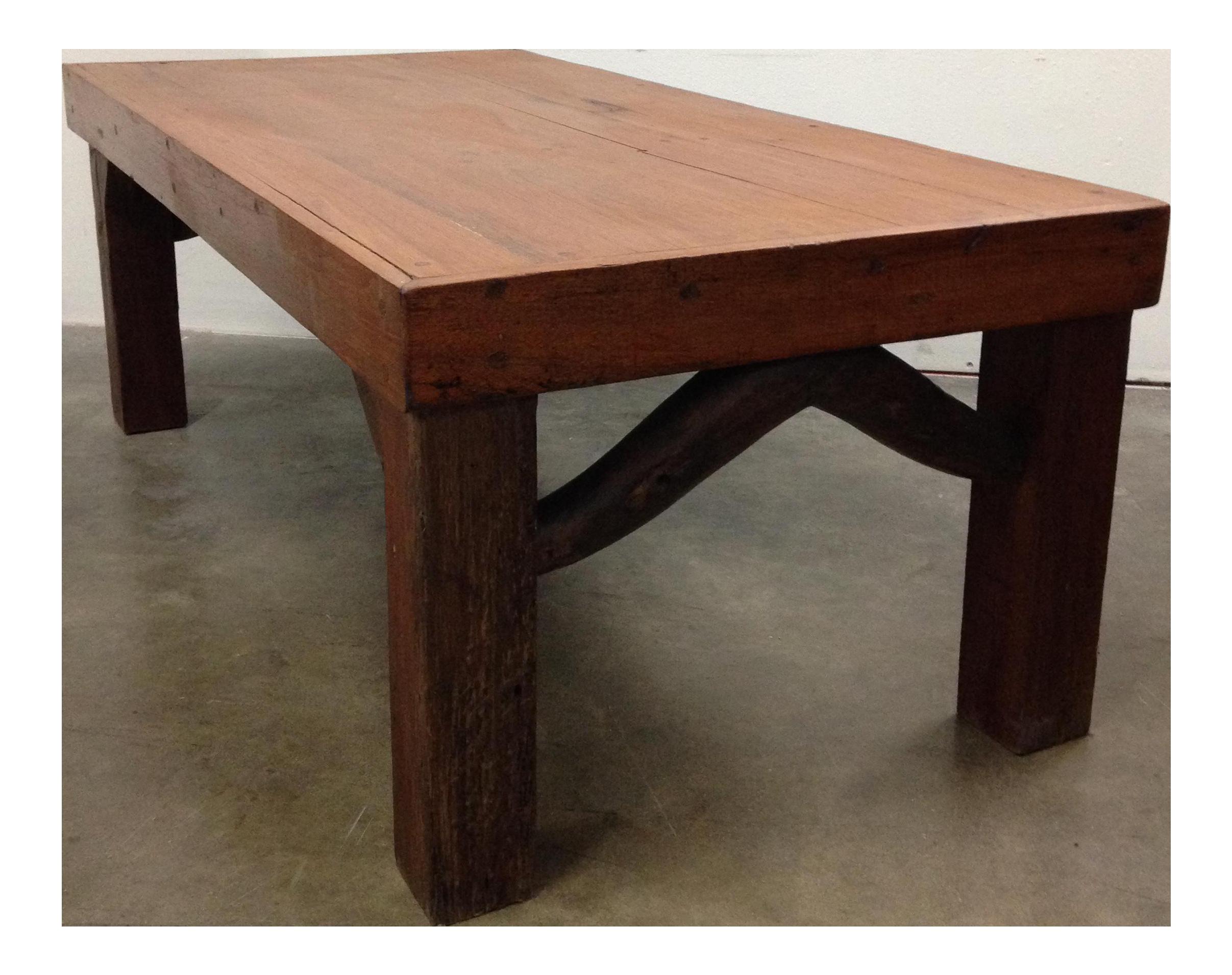 Antique Arts U0026 Crafts Tree Branch Coffee Table