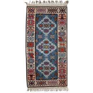 Vintage Turkish Kayseri Kilim- 2′ × 4′