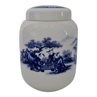 Chinese Porcelain Tea Jar