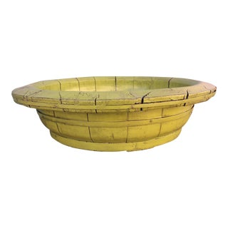 Large Chinese Wooden Charturese Bowl