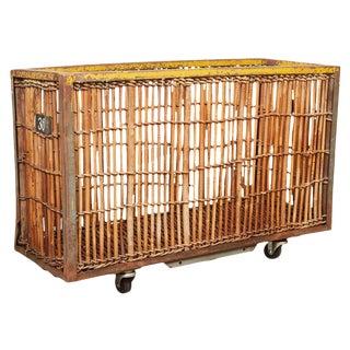Bamboo and Iron Factory Cart