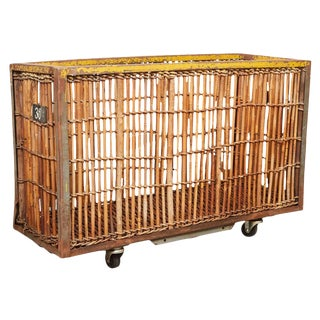 Bamboo and Iron Factory Cart