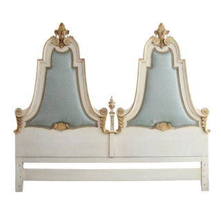 French Cream & Gold Gilt Kingsize Headboard