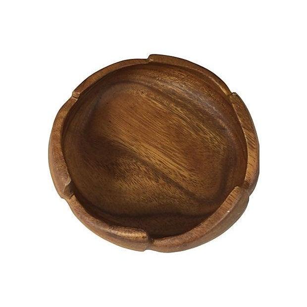 Image of Monkey Pod Wood Salad Set - Set of 5