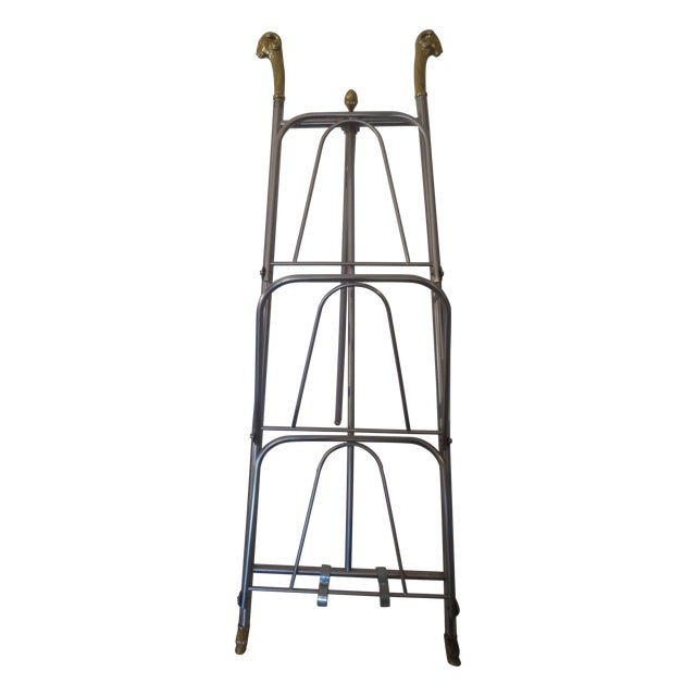 Image of Vintage Maison Jansen Style Tall Magazine Rack