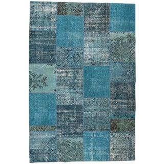 "Vintage Turkish Patchwork Overdyed Rug, 6'6"" x 9'9"""