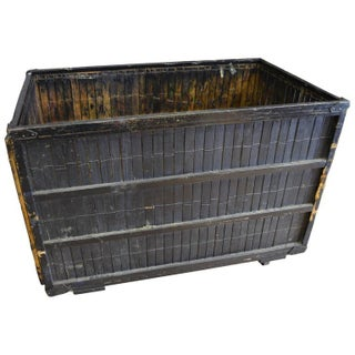 Newspaper Printing Plant Antique Crate on Wheels