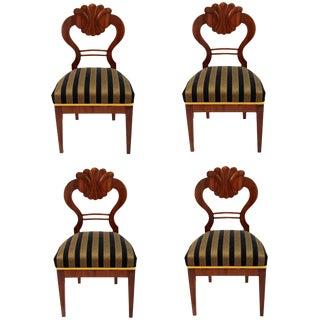 Antique 1820's Biedermeier Chairs - Set of 4