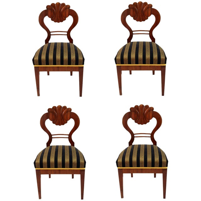 Antique 1820's Biedermeier Chairs - Set of 4 - Image 1 of 3