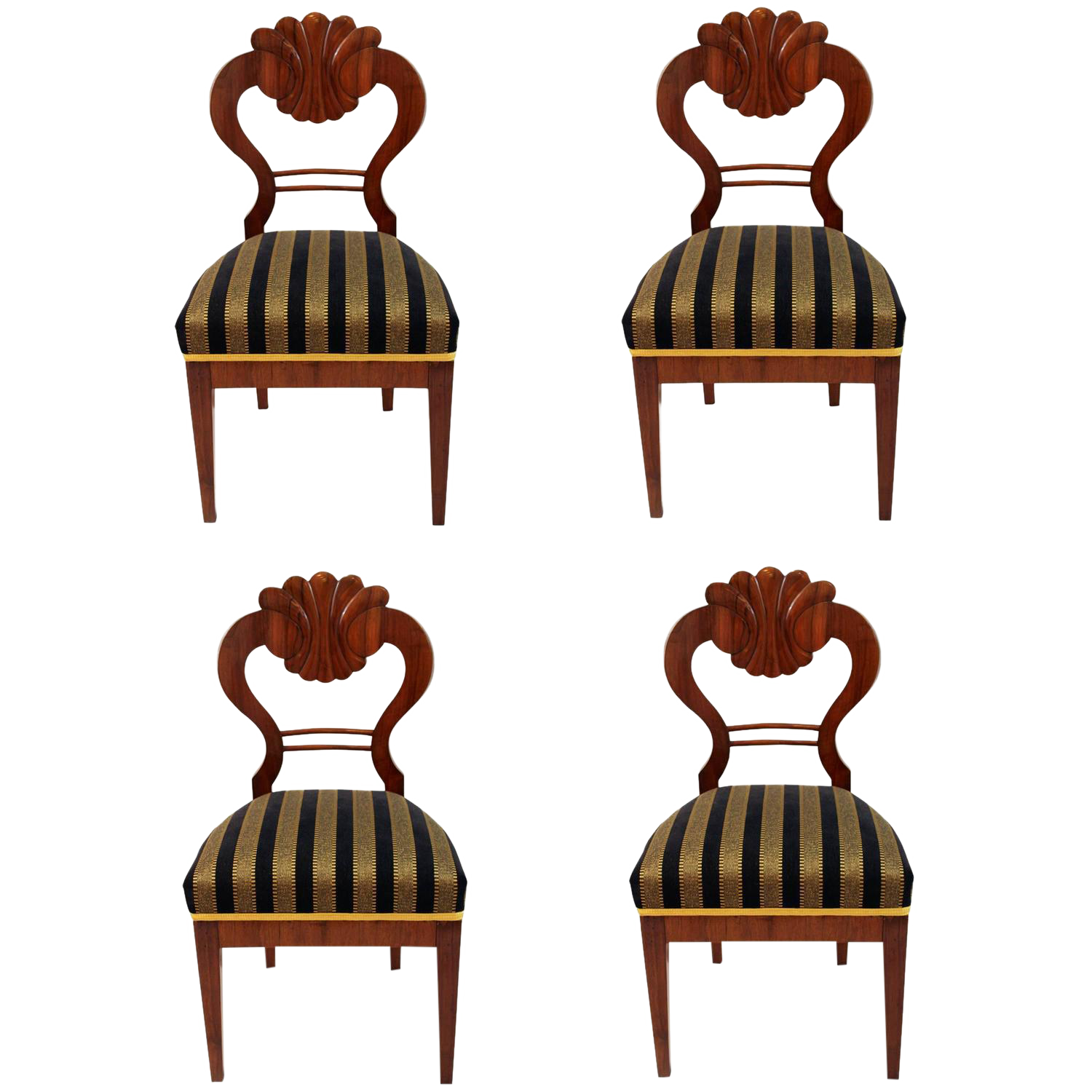 Antique 1820u0027s Biedermeier Chairs   Set ...
