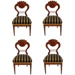 Image of Antique 1820's Biedermeier Chairs - Set of 4