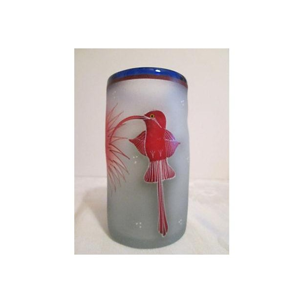 Mexican Frosted Hummingbird Glasses - S/6 - Image 4 of 6