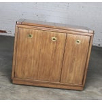 Image of Drexel Heritage Mid-Century Campaign Style Rolling Dry Bar