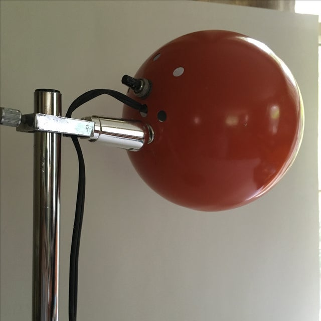 Orange Vintage Mid-Century Eyeball Lamp - Image 5 of 8