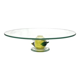 Murano Art Glass Cake Stand