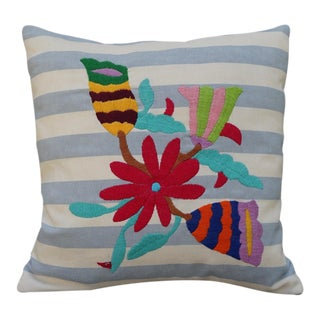 Crate & Barrel Otomi Mexican Pillow