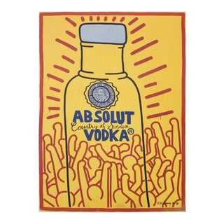 """Keith Haring """"absolut Vodka"""" Window Board Poster"""
