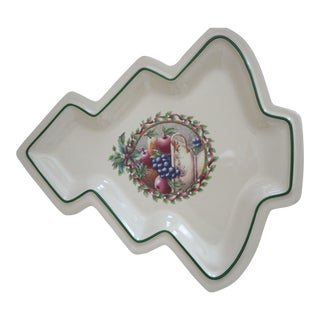 P. Faltzgraff Holly Joy Tree Dish