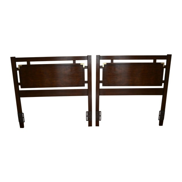 Dixie Campaign Twin Headboards - Set of 2 - Image 1 of 11
