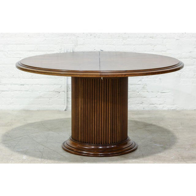 Image of Dining Table With Fluted Column Base