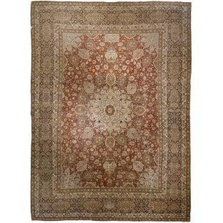 "Antique Oversize Persian Tabriz carpet 13' 4"" x 18' 10"""