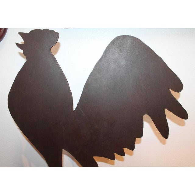 19th Century Folky Iron Rooster Weather Vane on Stand - Image 3 of 3