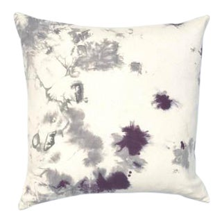 """Marbled Purple Gray Pillow Cover - 20"""" x 20"""""""