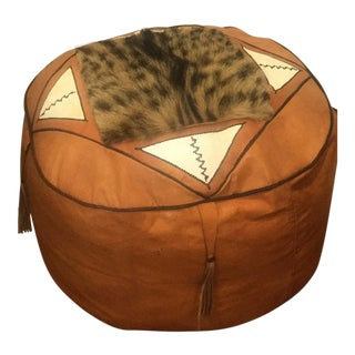 Moroccan Leather Pouf Cover