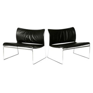 "1970s Kazuhide Takahama for Gavina ""Saghi"" Lounge Chairs - A Pair"