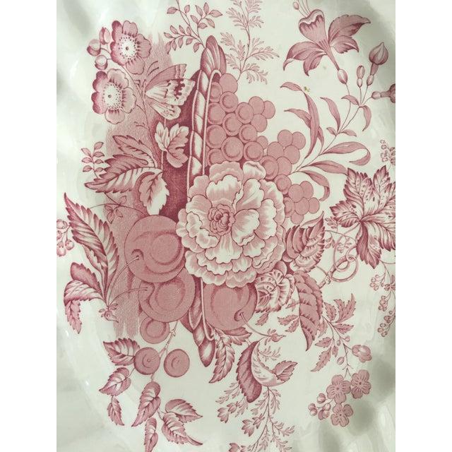 Pink Transfer-Ware English Platter - Image 3 of 5