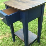 Image of Navy Wood Nightstands - Pair