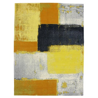 Modern Style Contemporary Abstract Color Block Rug - 9' x 12'1""