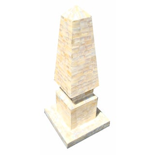 Large Mother Of Pearl Obelisk