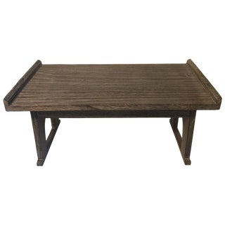 Cerused Gray Wood Tray Table Lap Desk