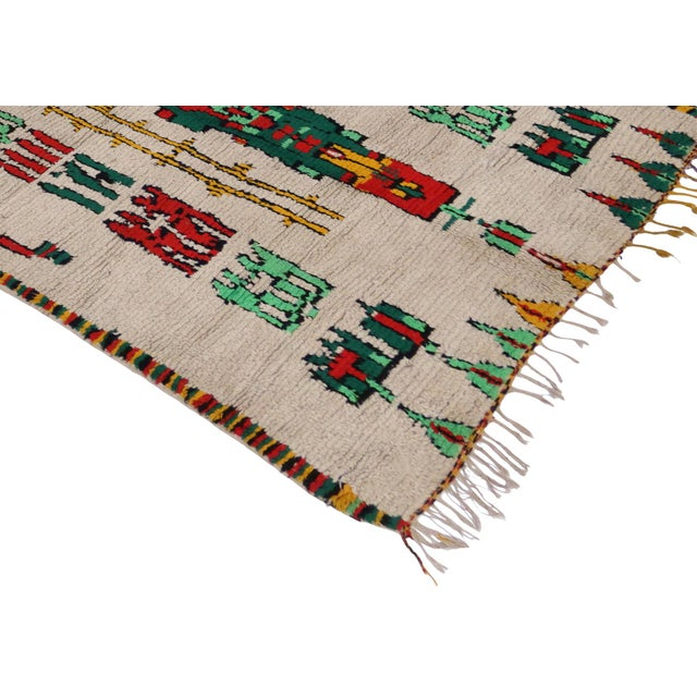 Vintage Moroccan Azilal Rug - 5′1″ × 10′4″ - Image 2 of 3