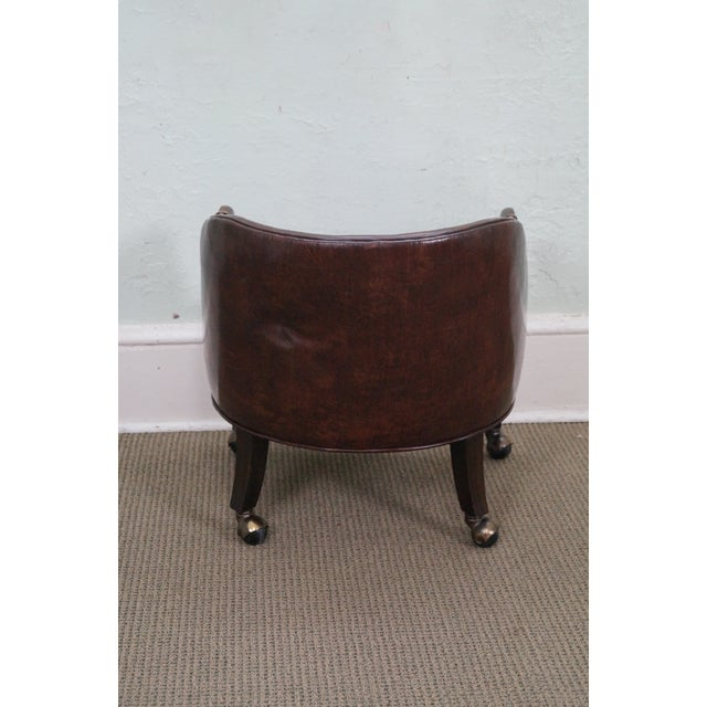 Widdicomb Small Barrel Back Leather Club Chair - Image 4 of 10