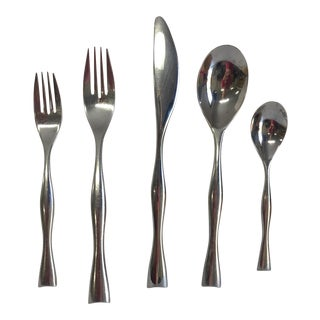 Nambe Butterfly Stainless Steel 6 Place Settings