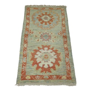 Turkish Oushak Rug, 2'9'' x 4'10''