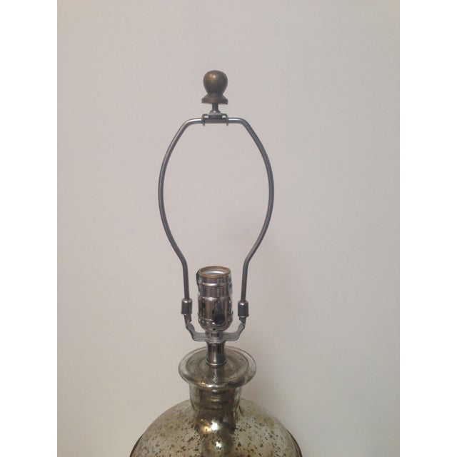 Image of Mercury Glass Paris Lamps with Shades - A Pair