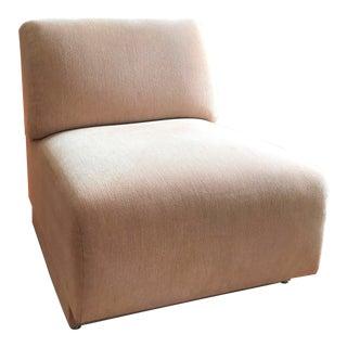 Beige Chenille Slipper Chair