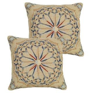 Nantucket Needlepoint Pillows - A Pair